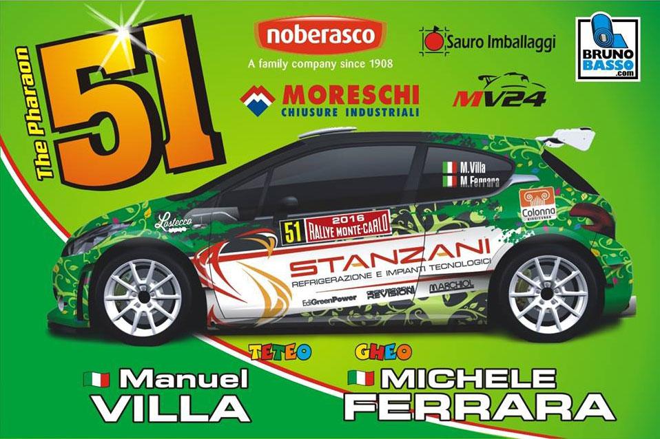 Peugeot 208 T16 - Manuel Villa - Rallye Monte-Carlo 2016