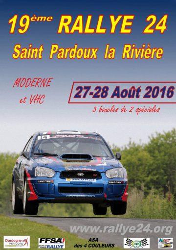 Affiche Rallye 24 Dordogne Périgord 2016
