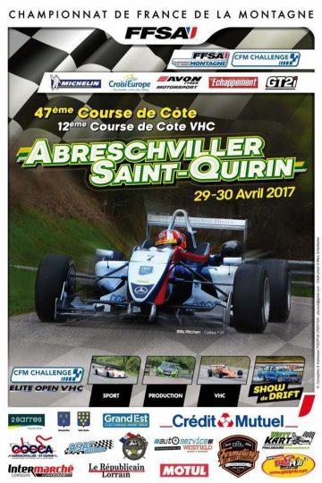 Affiche Course de Côte d'Abreschviller - Saint-Quirin 2017