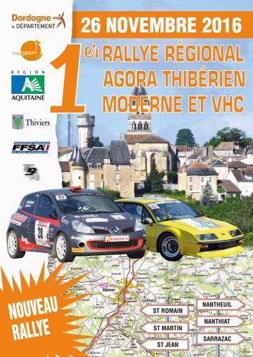 Affiche Rallye de l'Agora Thibérien 2016