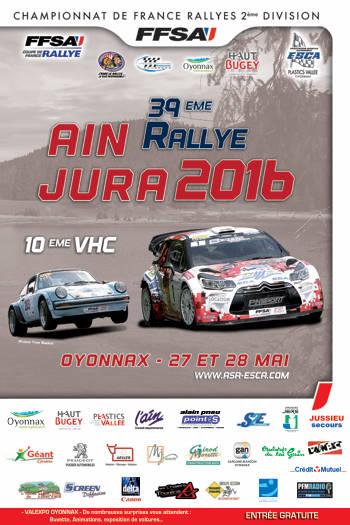 Affiche Rallye Ain Jura 2016