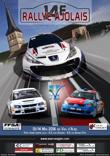 Affiche Rallye Ajolais 2016