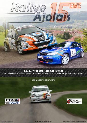 Affiche Rallye Ajolais 2017