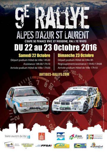 Affiche Rallye Alpes d'Azur - Saint-Laurent 2016
