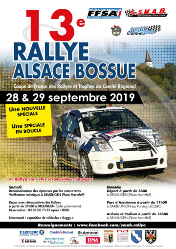 Affiche Rallye de l'Alsace Bossue 2019