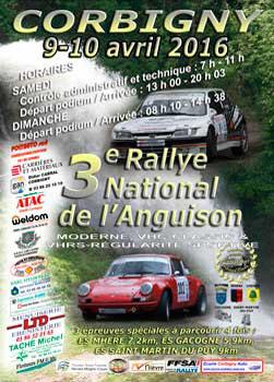 Affiche Rallye de l'Anguison 2016