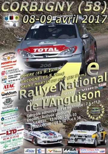 Affiche Rallye de l'Anguison 2017