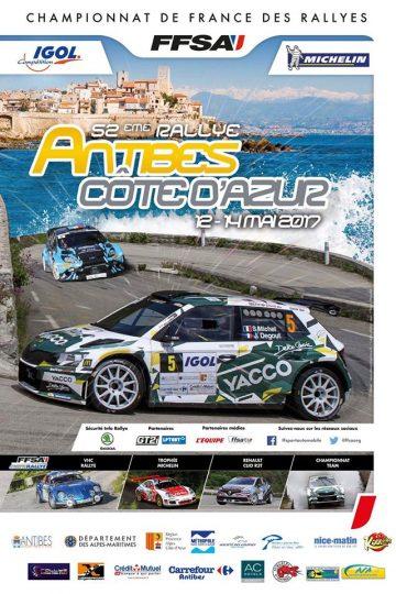 Affiche Rallye d'Antibes 2017