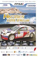 Affiche Rallye d'Antibes 2016