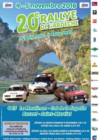 Affiche Rallye de l'Ardèche 2016