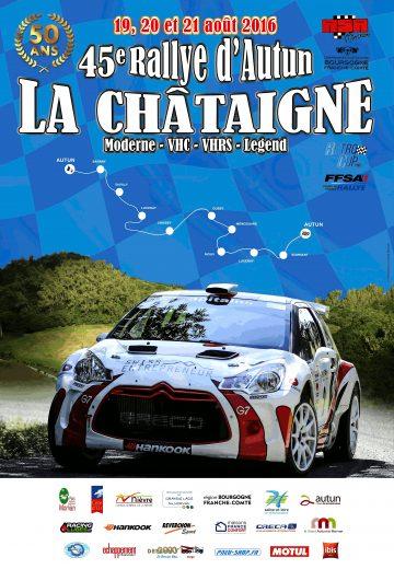 Affiche Rallye d'Autun 2016