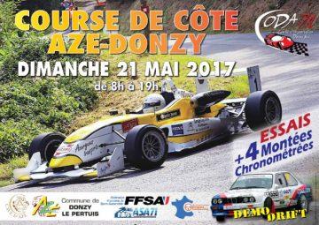 Affiche Course de Côte d'Azé - Donzy-le-Pertuis 2017