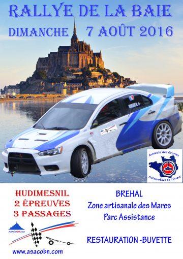 Affiche Rallye de la Baie 2016
