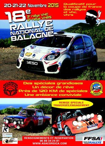 Affiche Rallye de Balagne 2015