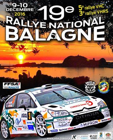 Affiche Rallye de Balagne 2016