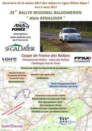 Affiche Rallye Baldomérien 2017