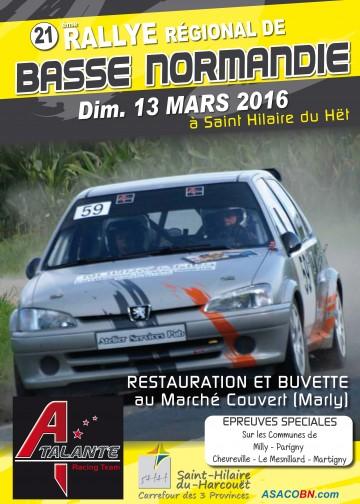 Affiche Rallye de Basse Normandie 2016