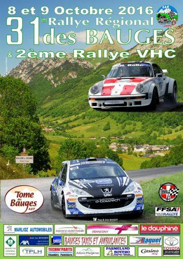 Affiche Rallye des Bauges 2016
