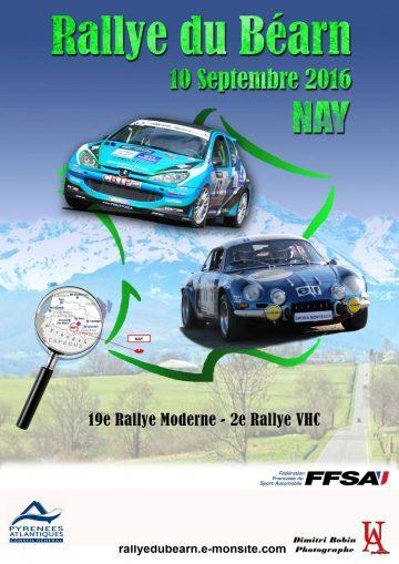 Affiche Rallye du Béarn 2016