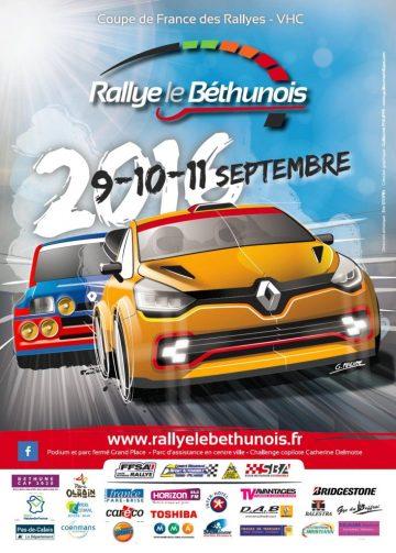 Affiche Rallye du Béthunois 2016
