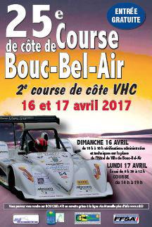 Affiche Course de Côte de Bouc-Bel-Air 2017