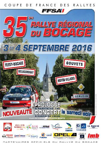 Affiche Rallye du Bocage 2016