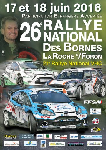 Affiche Rallye des Bornes 2016
