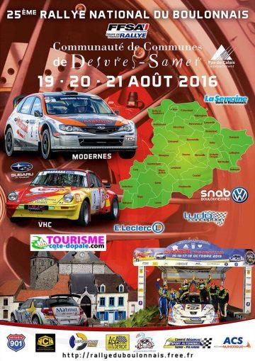 Affiche Rallye du Boulonnais 2016