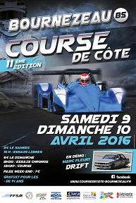 Affiche Course de Côte de Bournezeau 2016