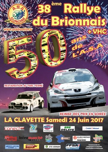 Affiche Rallye du Brionnais 2017