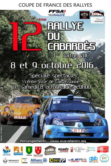 Affiche Rallye du Cabardès 2016