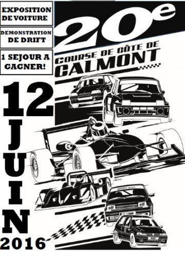 Affiche Course de Côte de Calmont 2016