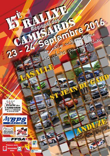 Affiche Rallye des Camisards 2016