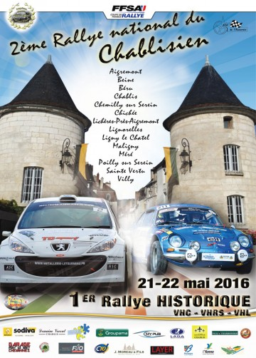 Affiche Rallye du Chablisien 2016