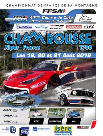 Affiche Course de Côte de Chamrousse 2016