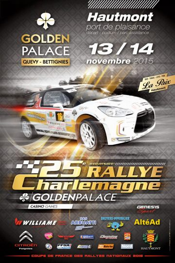 Affiche Rallye Charlemagne 2015