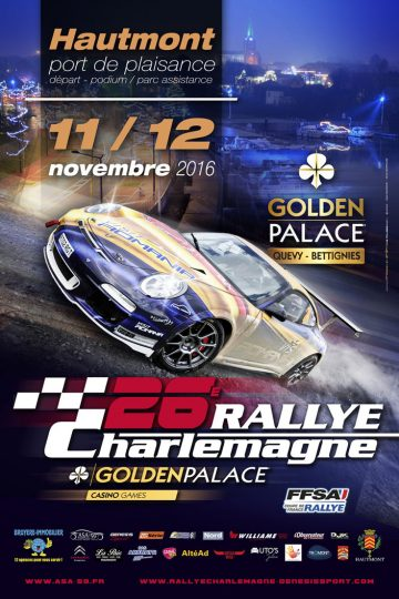 Affiche Rallye Charlemagne 2016