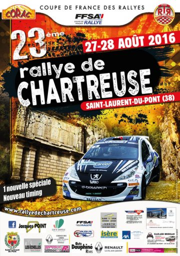 Affiche Rallye de Chartreuse 2016