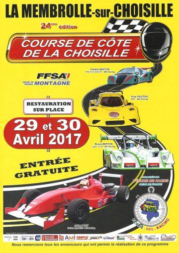 Affiche Course de Côte de la Choisille 2017