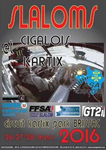 Affiche Slaloms Cigalois et Kartix 2016