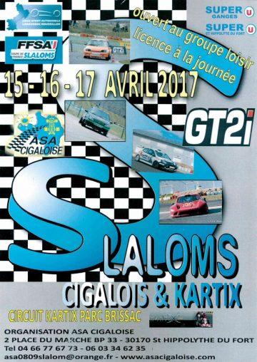 Affiche Slaloms Cigalois et Kartix 2017