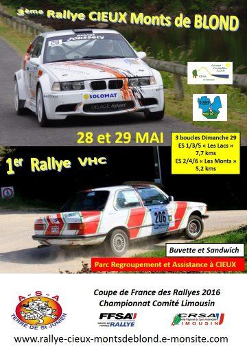 Affiche Rallye Cieux - Monts de Blond 2016