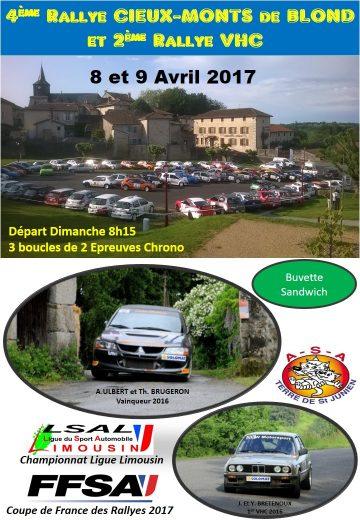 Affiche Rallye Cieux - Monts de Blond 2017