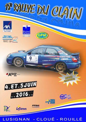 Affiche Rallye du Clain 2016