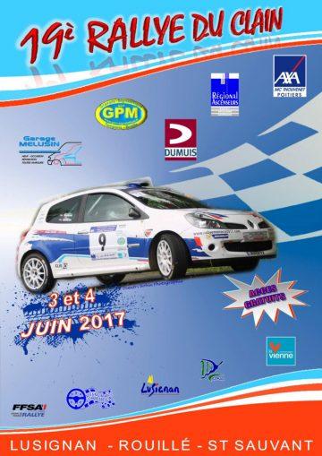 Affiche Rallye du Clain 2017
