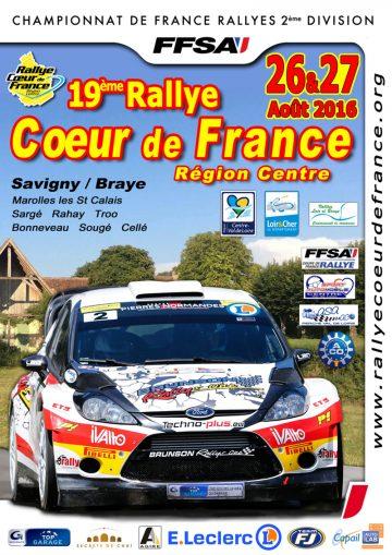 Affiche Rallye Cœur de France 2016