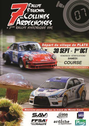 Affiche Rallye des Collines Ardéchoises 2016
