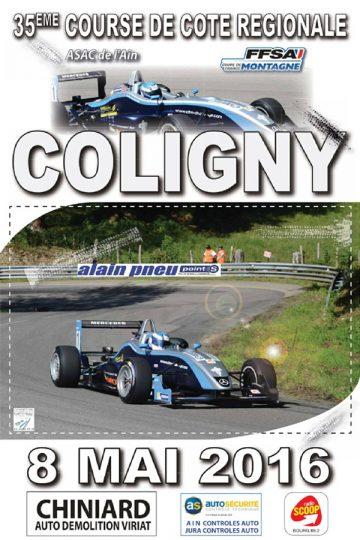 Affiche Course de Côte de Coligny 2016