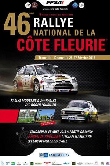 Affiche Rallye de la Côte Fleurie 2016