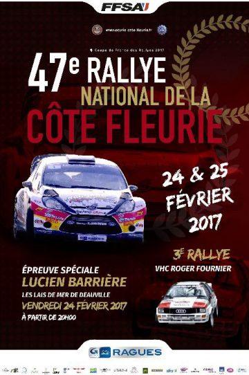Affiche Rallye de la Côte Fleurie 2017